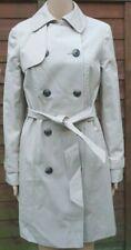 Women`s New Atmosphere Mac Trench Coat UK Size 8 (EU 36) Belted Beige