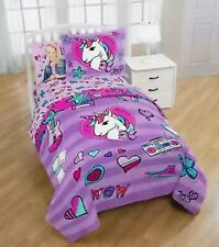 JoJo Siwa Unicorn 2 Piece Twin/Full Comforter and Sham Set Soft Kid's Bedding