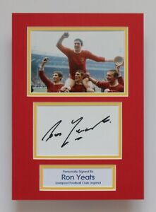RON YEATS Liverpool FA Cup 1965 SIGNED A4 Autograph Photo Mount Display + COA