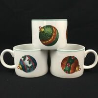 Set of 3 Cups by Atico International USA CHRISTMAS ORNAMENT Yuletide Traditions