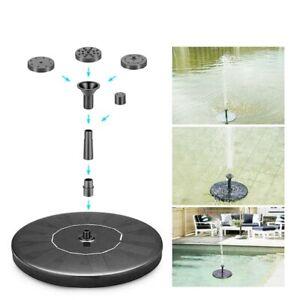 Home Solar Powered Fountain Water Pump Floating Garden Pond Pool Fish Bird Bath