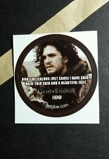 "GAME OF THRONES DON'T BE JEALOUS PHOTO TV SM 1.5"" GETGLUE GET GLUE STICKER"