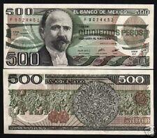 MEXICO 500 PESOS P79 B 1984 AZTEC CALENDAR UNC LATINO CURRENCY MONEY LOT 10 NOTE