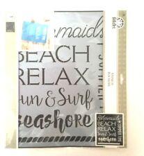 New Folk Art Beach Theme Stencil 12 x 14.5