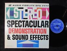 AUDIO FIDELITY DFX-7777 LP Stereo demonstration sound effects test record