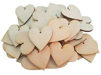 Wooden Love Hearts Shape Embellishments Craft Blank Wedding Decor with a hole