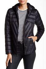 BCB Generation 145990 Womens Missy Short Hooded Jacket Black Sz Medium