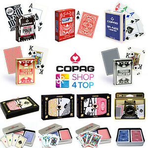 COPAG POKER PLAYING CARDS DECK 100% PLASTIC STANDARD JUMBO INDEX MADE IN BRAZIL