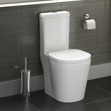 Modern Close Coupled Toilet Cloakroom Bathroom Cistern Soft Close Seat