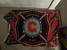 Vintage Chicago Fire Official MLS Large 3' X 5' Flag 1999 Inaugural Season New