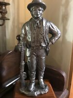 "M.  RICKER Pewter  BILLY THE KID 9"" Western Collection Cowboy Statue  225/1000"