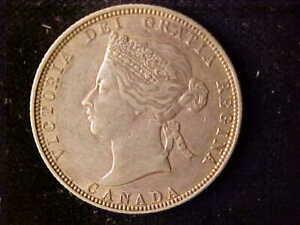 CANADA VICTORIA 25 CENTS 1870