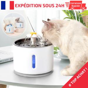 Fontaine à eau pour chat et chien distributeur électrique automatique 2,4L