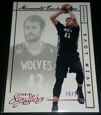 Kevin Love 2013-14 Panini Signatures RED PARALLEL Insert Card (#'d 10/10)