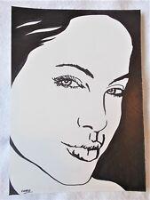 A4 Bolígrafo Marcador De Arte Dibujo actriz Angelina Jolie Rostro Cartel