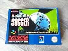 Super Nintendo SNES Sensible Soccer, Boxed Excellent Condition