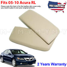Fits 2005-2010 Acura RL Leather Center Console Lid Armrest Cover Beige Tan