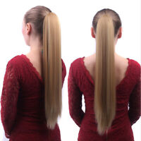 Thick Clip In Pony Tail Straight Hair Extensions Claw Clip On Ponytail One Piece