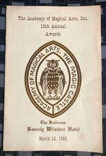 *Hollywood Magic Castle* Vintage Awards Program 1983 Academy of Magical Arts