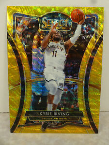 2019-20 Panini Select Field Level 143 Kyrie Irving Brooklyn Nets TMALL GOLD WAVE