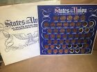 1969 Shell Oil States Of The Union 50 Solid Bronze Collectors Coin Set - parts