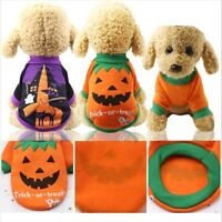 Dog Cat Pumpkin Halloween Coat Vest Pet Clothes Warm Puppy Costume Fashion XS-XL