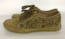 Patrizia Zinc Floral Embossed Faux Leather Sneaker In Natural Size 40 US 9 NWOB