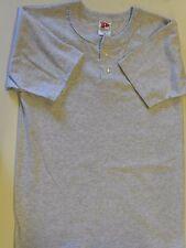 "Nos Vtg '90's Paramount Baseball Shirt Small 36"" Chest Gray Usa Nice!"
