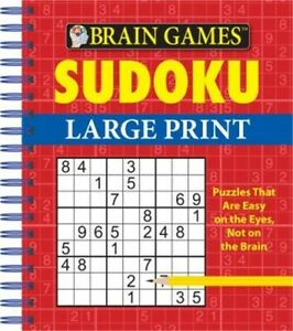 Brain Games - Sudoku Large Print (Spiral Bound, Comb or Coil)