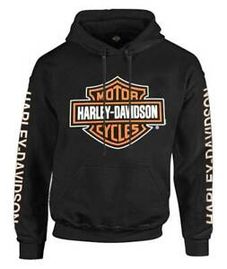 Harley-Davidson Men's Bar & Shield Logo Pullover Hoodie - Black 30297503