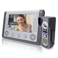 "7"" TFT LCD Color Wired Video Door Phone Doorbell Intercom System IR Night Vision"