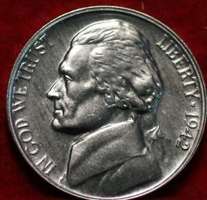 Uncirculated 1942 Philadelphia Jefferson Nickel Proof
