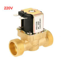 1pc 1/2Inch Electric Solenoid Valve Magnetic AC220V N/C Water Air Inlet Switch