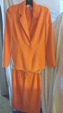 CAROLINA HERRERA Light Wool 3pc suit Orange Sz 4 STUNNING!!