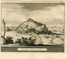 Vista San Sebastian por Pieter vander Aa, 1707