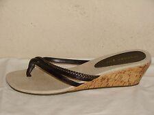 Madden Girl Wondeer Womens Brown Flip Flop Wedge Sandal Shoe - Size 11M