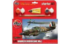 Airfix A55111 Hawker Hurricane Mk.I Plastic Kit Starter Set