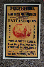 Robert Houdin magician poster #4 1849 Last Three Performances