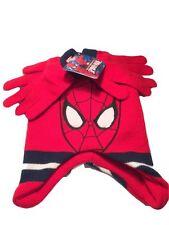 Boys Spiderman Beanie and Glove Set