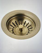 """Delta 72010-CZ 4 1/2"""" Kitchen Flange & Basket Strainer in Champagne Bronze"""