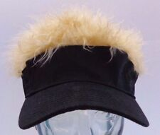BRAND NEW! Hair Hat! Black Hat wIth WILD Blond Hair! Cap Visor NEW! Flair!