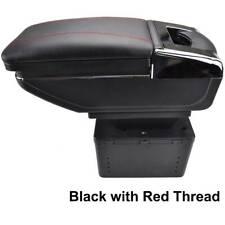 xukey Black Universal Auto Center Console Armrest Leather Arm Rest Storage
