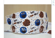 Cookie Monster Ribbon 9mm wide 1m long