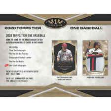 ATLANTA BRAVES 2020 Topps Tier One Baseball 6 box 1/2 Case Break #2