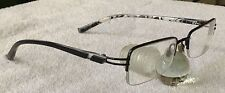 """zip+homme, Z-0248 TITANIUM, 09-BLK, 49-18-133"", semi-rimless glasses-frame only"