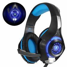 Casque De Jeu Gaming PS4 PS3 LED Stéréo Micro Sans Fil Audio PC XBOX Ordinateur