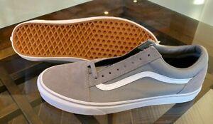 Vans Old Skool Low Frost Grey White Skateboarding Shoes Men's Size 11.5