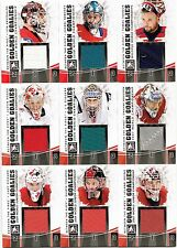 20ct 2010-11 ITG Between The Pipes Hockey Golden Goalies Jersey Black Card Lot