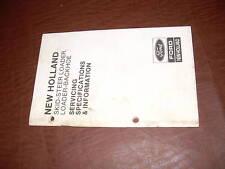 New Holland Ford Sperry Loader Backhoe Skid Steer Spec