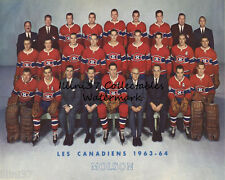 1963-64 MONTREAL CANADIENS NHL HOCKEY TEAM 8X10 PHOTO PICTURE